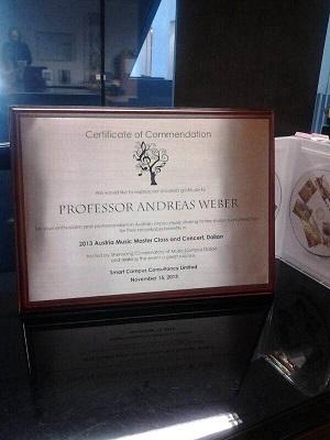 Salzburg masterclass - Certificate to Weber